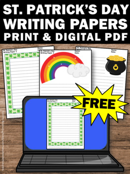 FREE St. Patrick's Day Writing Papers for Literacy Center Activities