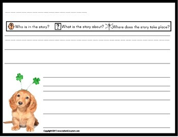 St. Patrick's Day FREE Writing Papers with Visual Prompts
