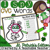 St. Patrick's Day FREEBIE - I Spy CVC Words! {Spy, Read, Write}
