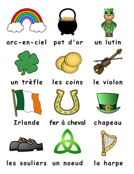 St. Patrick's Day FRENCH Games ONLY