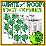 St Patricks Day Math Center or Write the Room Fact Families