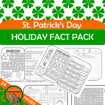 St Patrick's Day Holiday FUN PACK {Informational Text, Writing Prompts}