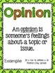 St. Patrick's Day Fact or Opinion [Literacy Center]
