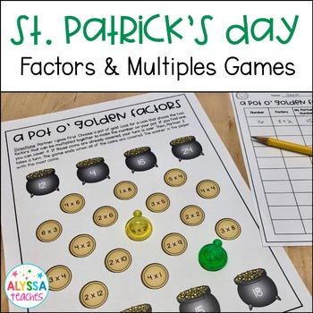 St. Patrick's Day Factors and Multiples Games *Differentiated*