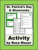 St. Patrick's Day Shamrocks Activities