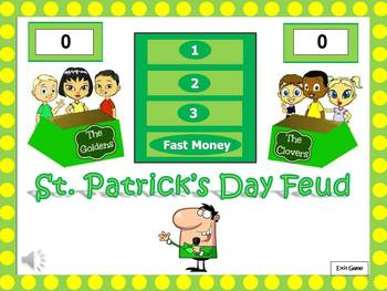 St. Patrick's Day Feud: Holiday Themed Powerpoint Game