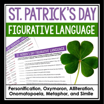 ST. PATRICK'S DAY FIGURATIVE LANGUAGE