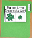 "St. Patrick's Day File Folder Game--""Big and Little Shamrocks Sort"""