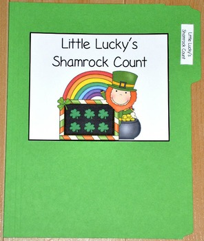 "St. Patrick's Day File Folder Game--""Little Lucky's Counting Shamrocks"""