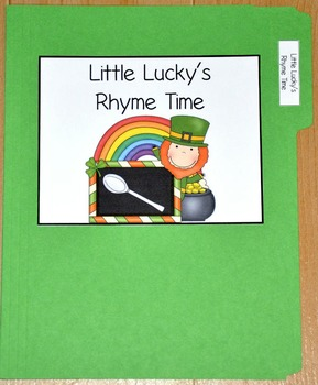"""St. Patrick's Day File Folder Game--""""Little Lucky's Rhyme Time"""""""