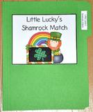 """St. Patrick's Day File Folder Game--""""Little Lucky's Shamrock Match"""""""