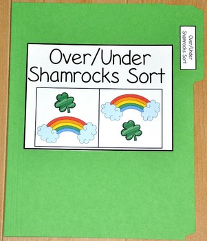 "St. Patrick's Day File Folder Game--""Over and Under Shamrocks Sort"""