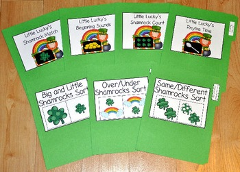 "St. Patrick's Day File Folder Games--""File Folder Games Mini Bundle"""