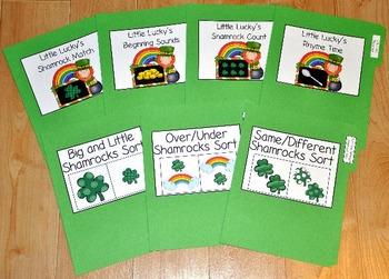 """St. Patrick's Day File Folder Games--""""File Folder Games Mi"""