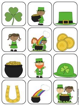 St. Patrick's Day File Folder Matching Game