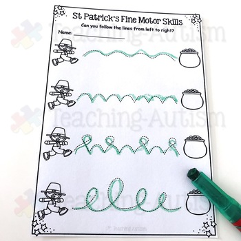 St Patrick's Day Fine Motor Skills