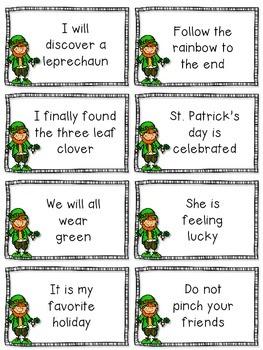 St. Patrick's Day Fluency Cards