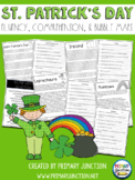St. Patrick's Day Fluency, Comprehension, and Bubble Map Sheets