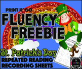 St. Patrick's Day Fluency Freebie: Repeated Reading Recording Sheets