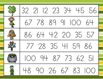 St Patrick's Day Fluency Practice {Numbers 0-100}