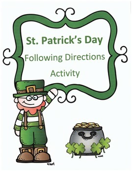 St. Patrick's Day Following Dirctions Activity: Find the Leprechaun's Luck
