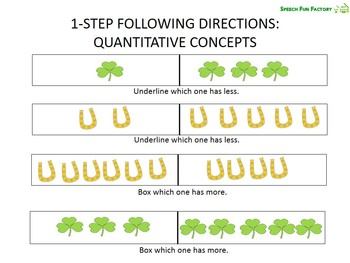 St. Patrick's Day - Following Directions and Basic Concepts Packet