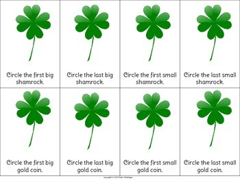 St. Patrick's Day Following Directions with Basic Concepts