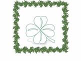 St. Patrick's Day Four Leaf Clover Clip Art