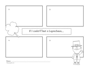 St. Patrick's Day Four Square Writing Printable