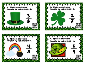 St. Patrick's Day Fraction Cards