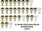 St. Patrick's Day Fraction Clip Art / Clipart PNG Format