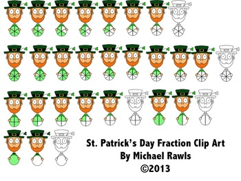 St. Patrick's Day Fraction Clip Art / Clipart PNG Format