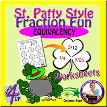 St Patrick's Day Fraction Fun - Equivalency Practice