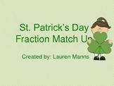 St. Patrick's Day Fraction Match Up