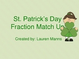 St. Patrick's Day Fraction Match Up