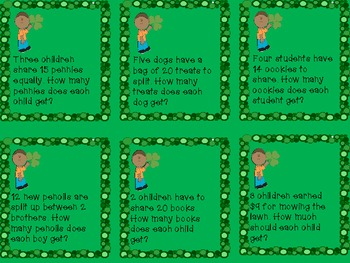 St. Patrick's Day Fraction Word Problems