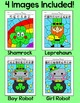 St. Patrick's Day Math Fractions Color by Code Activities