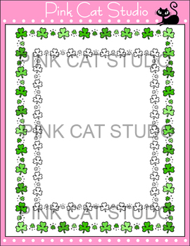 Borders - St. Patrick's Day Frame / Border Clip Art - Commercial Use Okay