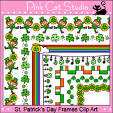 Borders - St. Patrick's Day Frames / Borders Clip Art - Commercial Use Okay