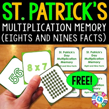 St. Patrick's Day FREE: St. Patrick's Day Multiplication F