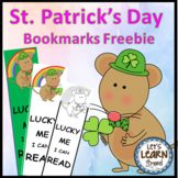 St. Patrick's Day Bookmarks Free for March Activities