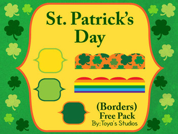 St. Patrick's Day Free Borders Pack