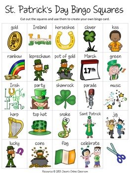 picture about St Patrick's Day Bingo Printable identify St. Patricks Working day Cost-free