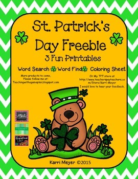 St. Patrick's Day Freebie Activities