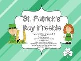 St. Patrick's Day Freebie Pack