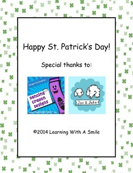 St. Patrick's Day (Freebie) ~ Partner Game ~ Pick-A-Box ~ Word Work Activity