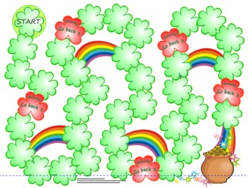 St Patrick's Day Freebie - Rainbows & Clover Multi-use Board Game