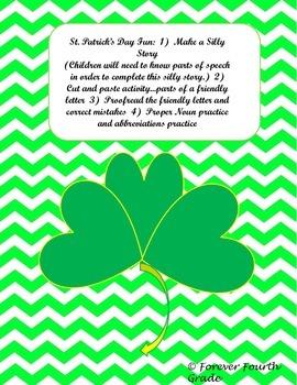 St. Patrick's Day Fun:  ELA (Common Core Aligned)