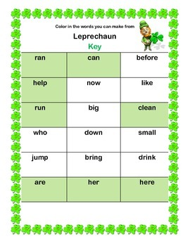 St. Patrick's Day Fun Freebie For First