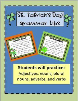 St. Patrick's Day Fun:  Grammar Libs